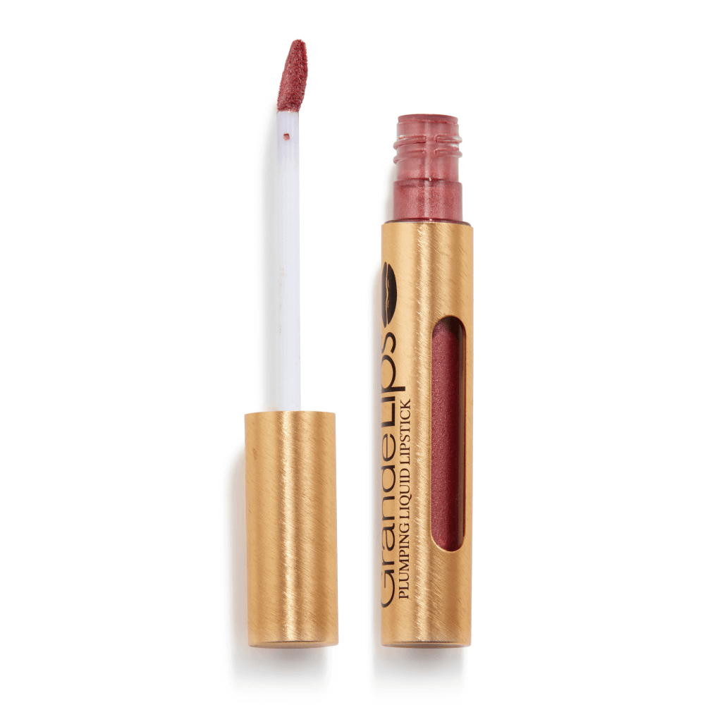 GrandeLIPS Plumping Liquid Lipstick, Metallic Semi-Matte in Raspberry Daiquiri