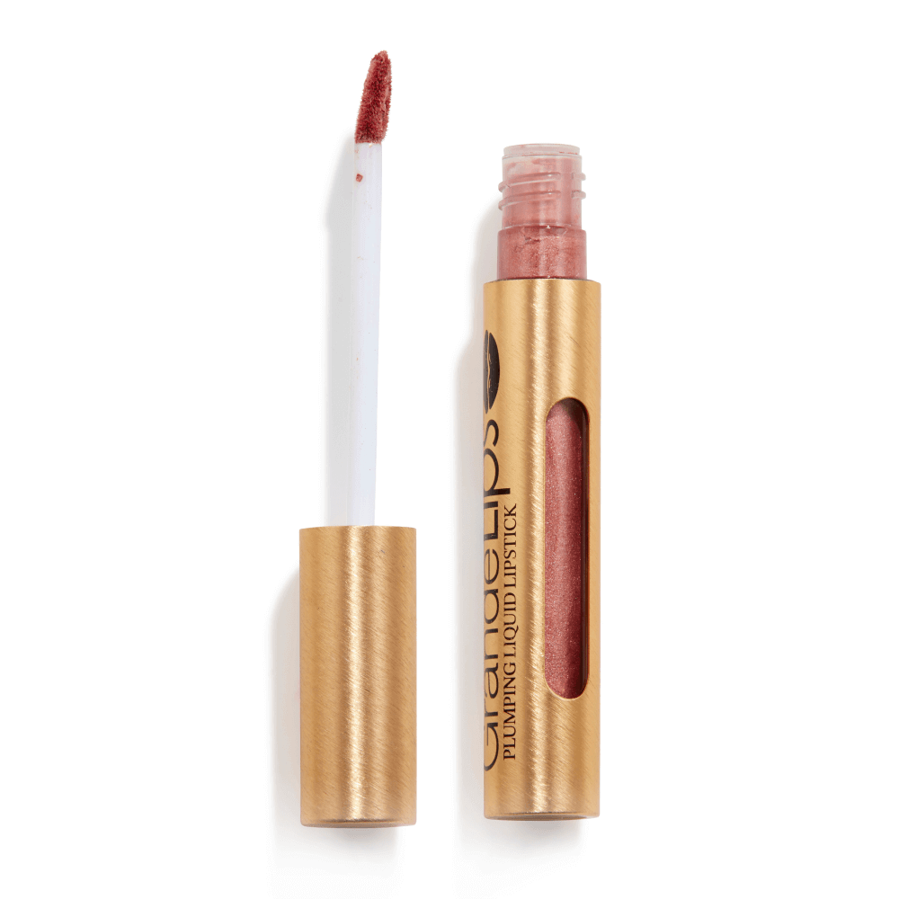 GrandeLIPS Plumping Liquid Lipstick, Metallic Semi-Matte in Rosé Blush