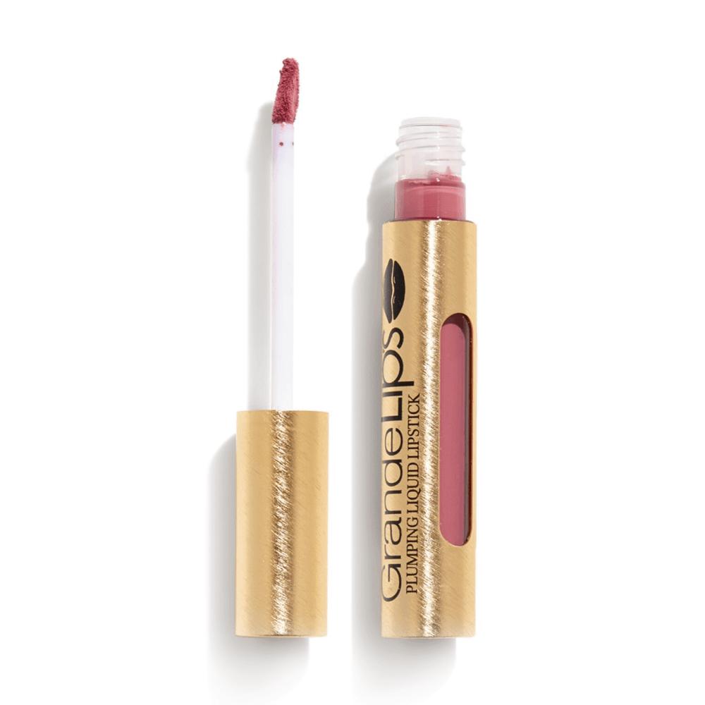 GrandeLIPS Plumping Liquid Lipstick, Semi-Matte in Vintage Rose