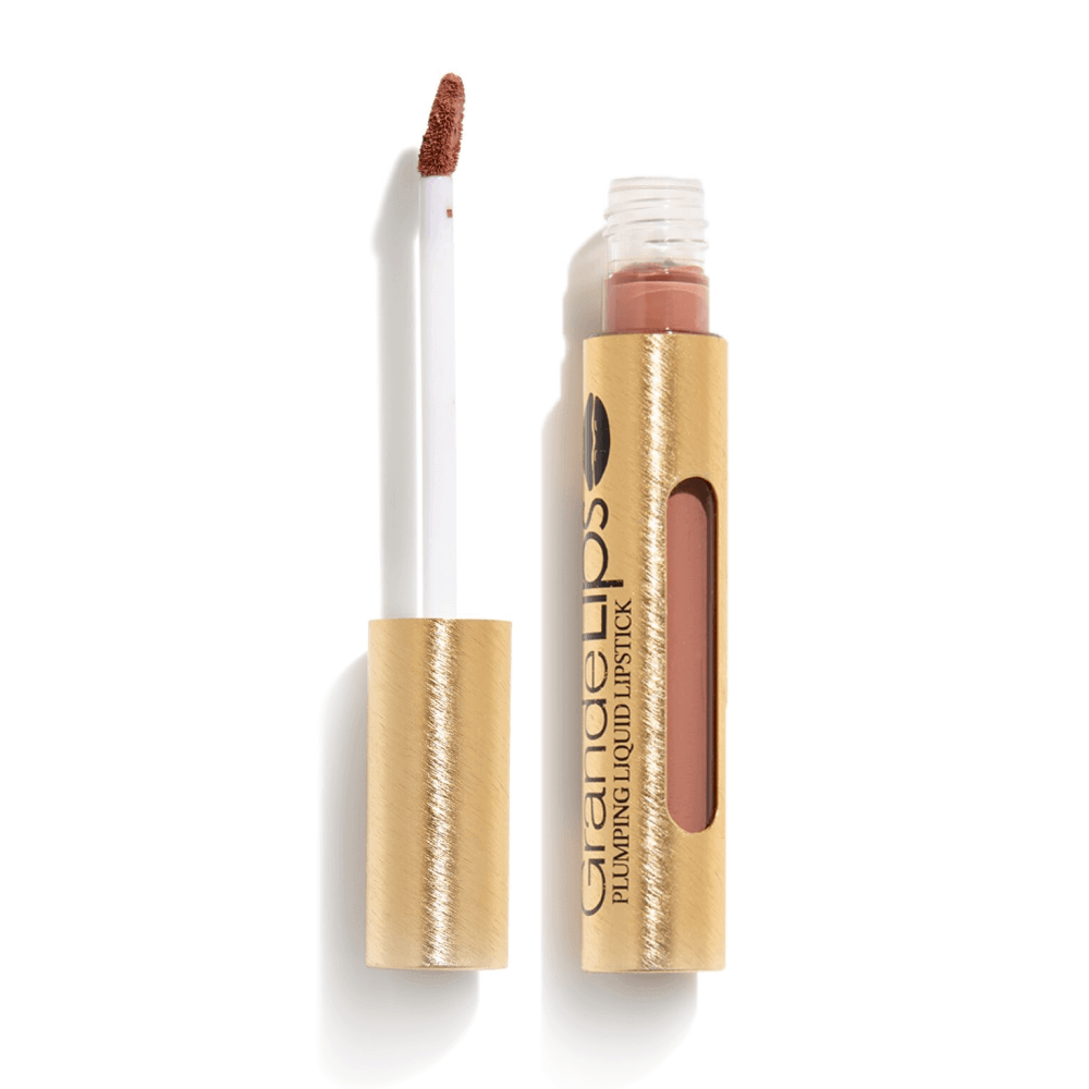 GrandeLIPS Plumping Liquid Lipstick, Semi-Matte in River Clay